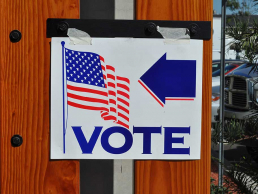 Voting Poll direction sign