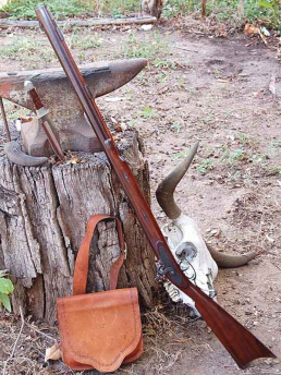 Old Missouri Hawken Rifle - Probably used in war and to get food on the Lewis and Clark Trail