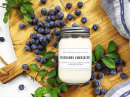 Blueberry Cheesecake candle made by local Missouri Candlemaker
